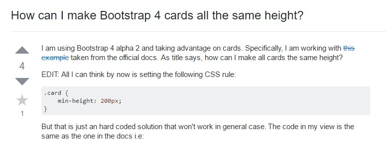Insights on  just how can we  establish Bootstrap 4 cards  all the same  height?