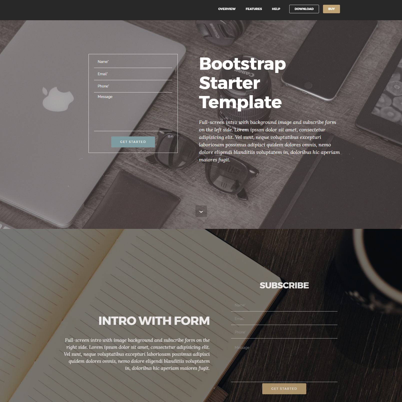 HTML5 Bootstrap Starter Themes