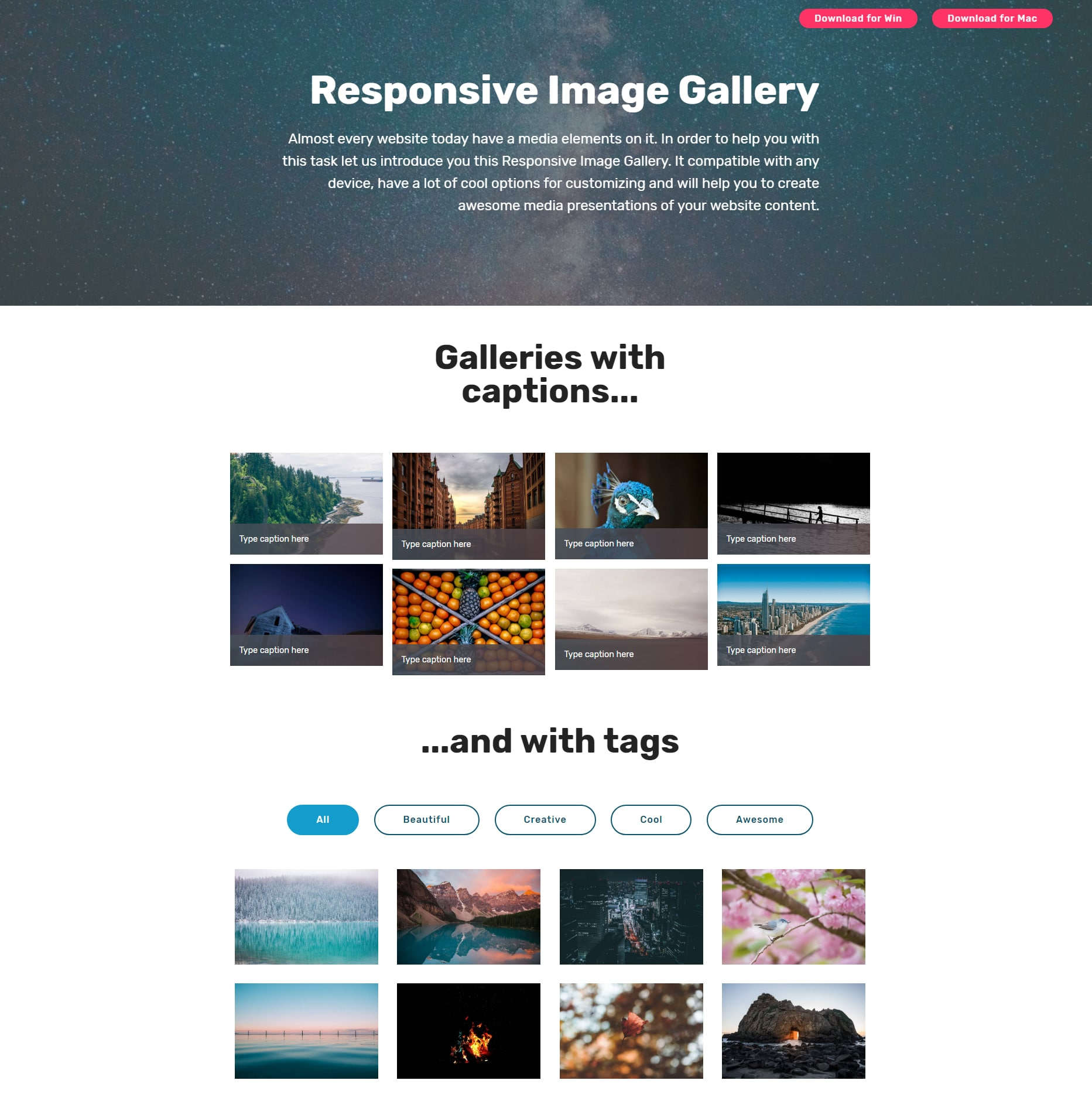 CSS3 Bootstrap Picture Gallery