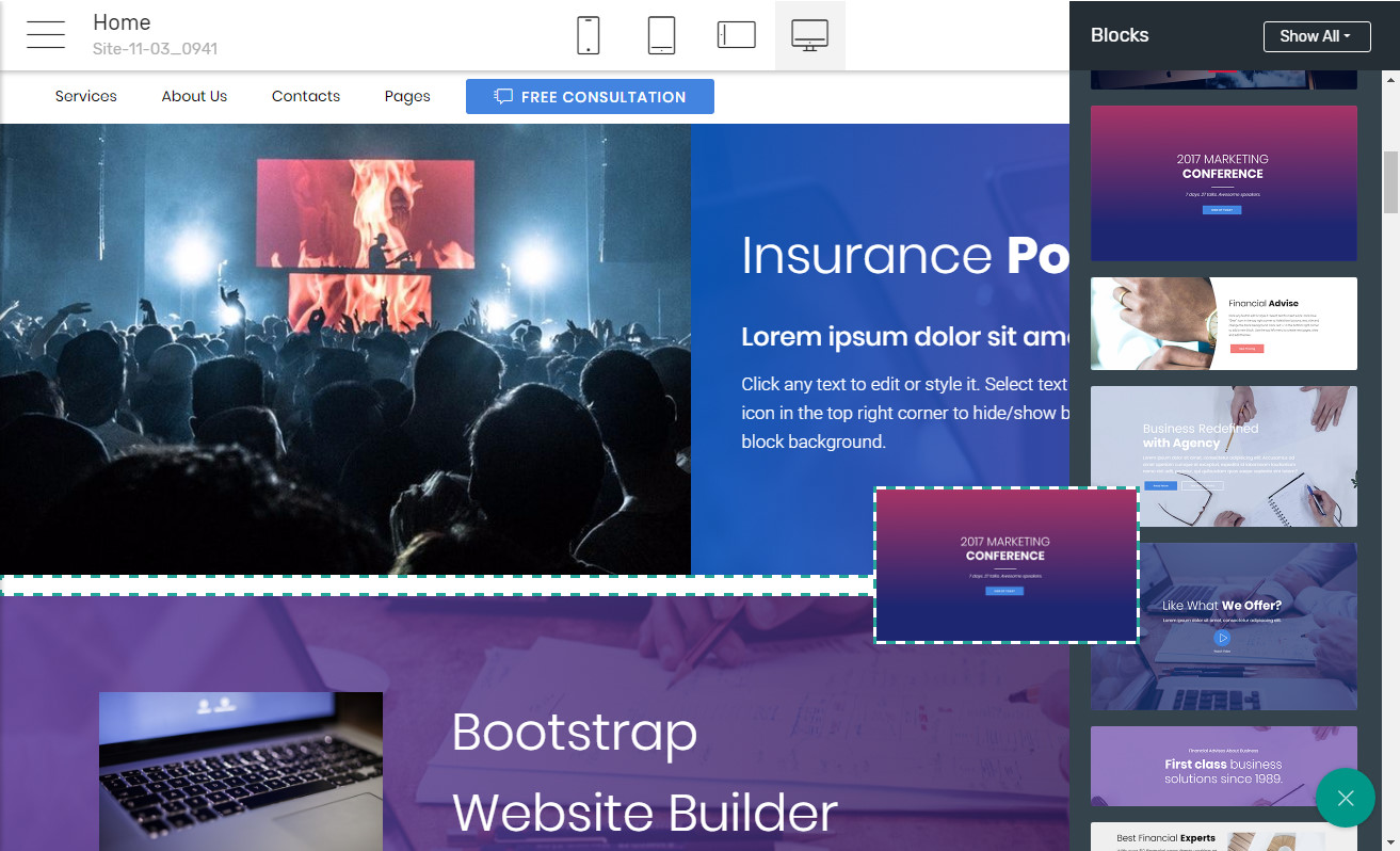 Bootstrap Website Builder