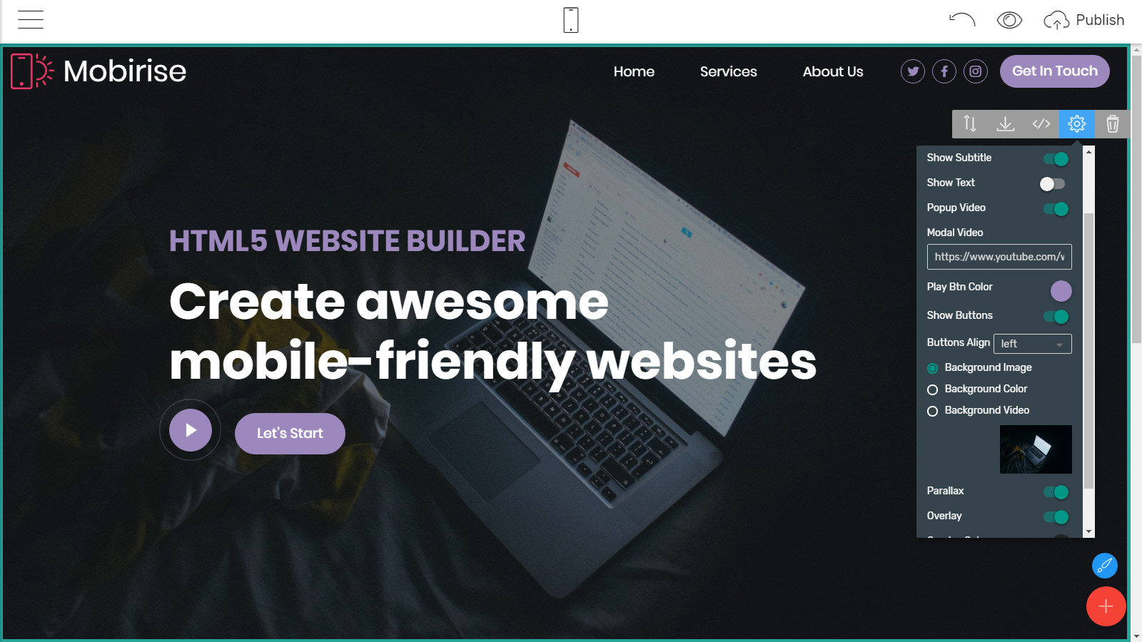 mobile-friendly webpage layouts