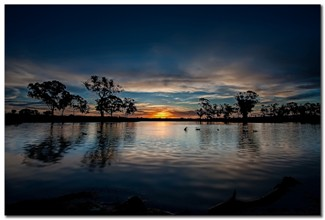 Sunset At The Katoomba Pond