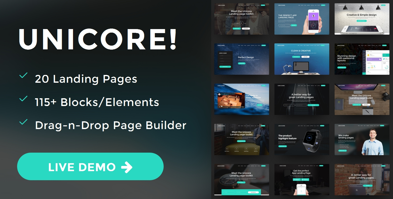 Custom Bootstrap One Page Theme Builder