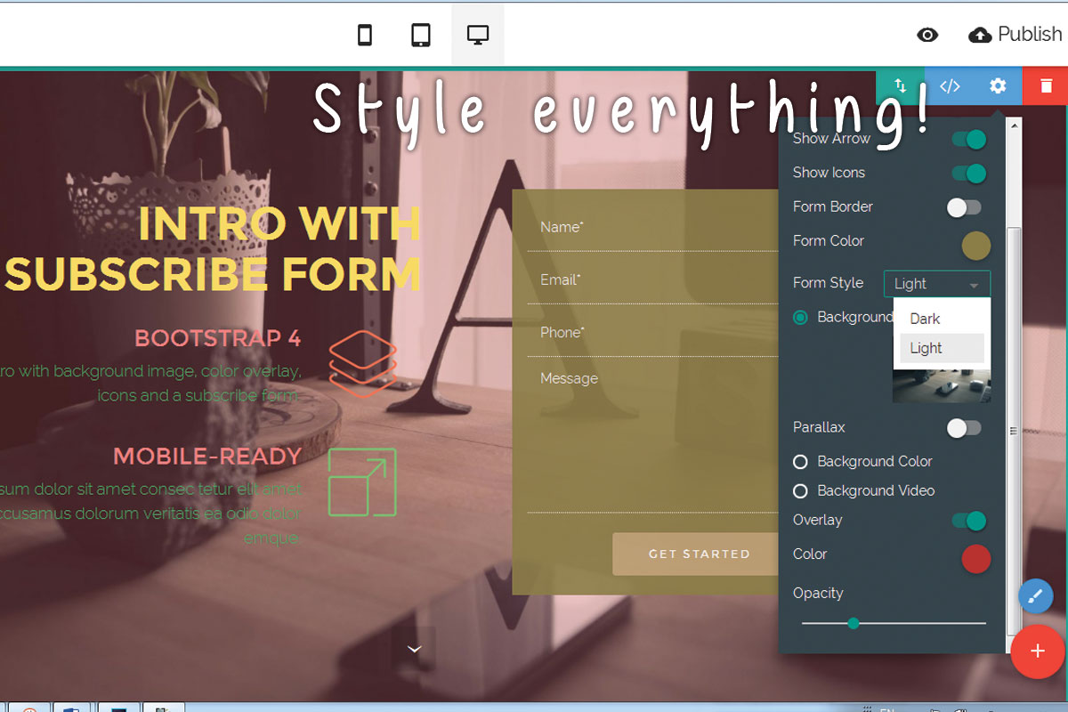 HTML5 Responsive Web Page Builder