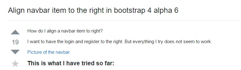 Regulate navbar  thing to the right  within Bootstrap 4 alpha 6