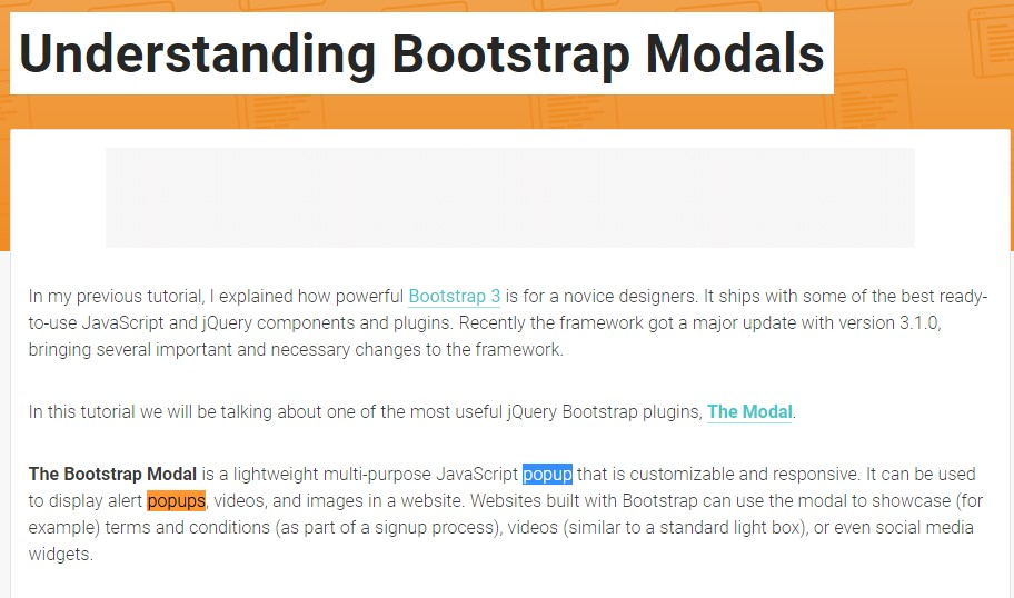 An additional  helpful  content  concerning Bootstrap Modal Popup