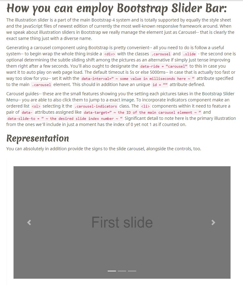Bootstrap Multiple Image Slider