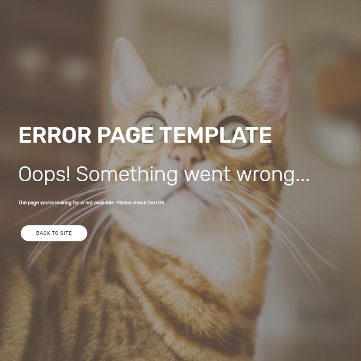 Responsive Bootstrap Error Templates
