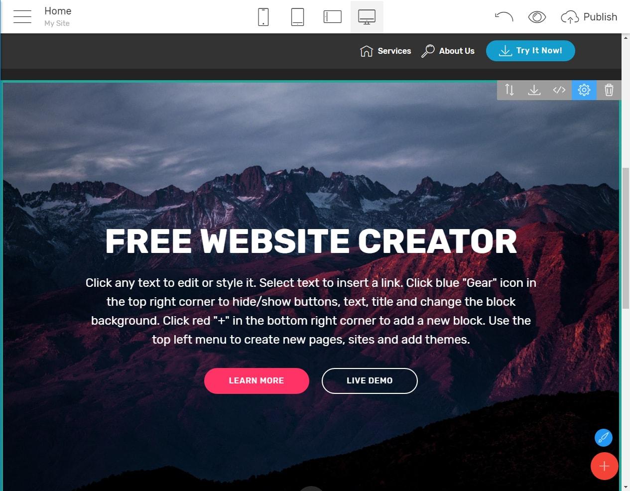 Free Site Creator