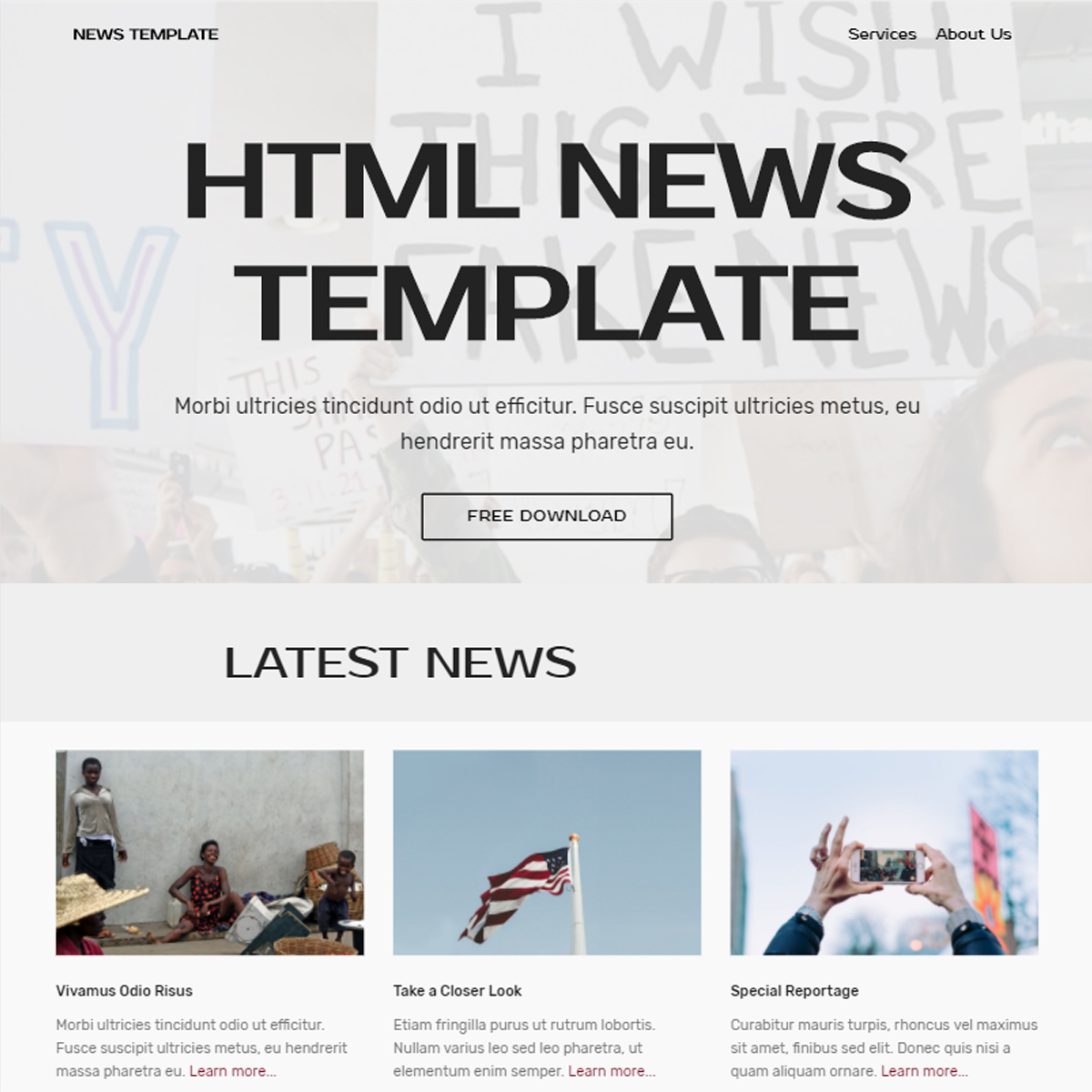 HTML Bootstrap News Themes