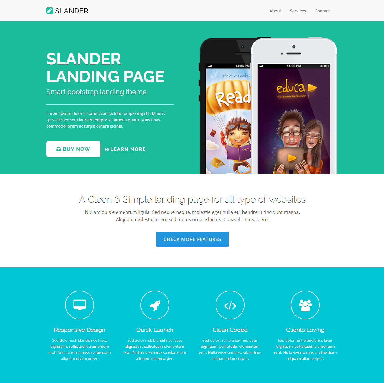 HTML Bootstrap Slander Themes