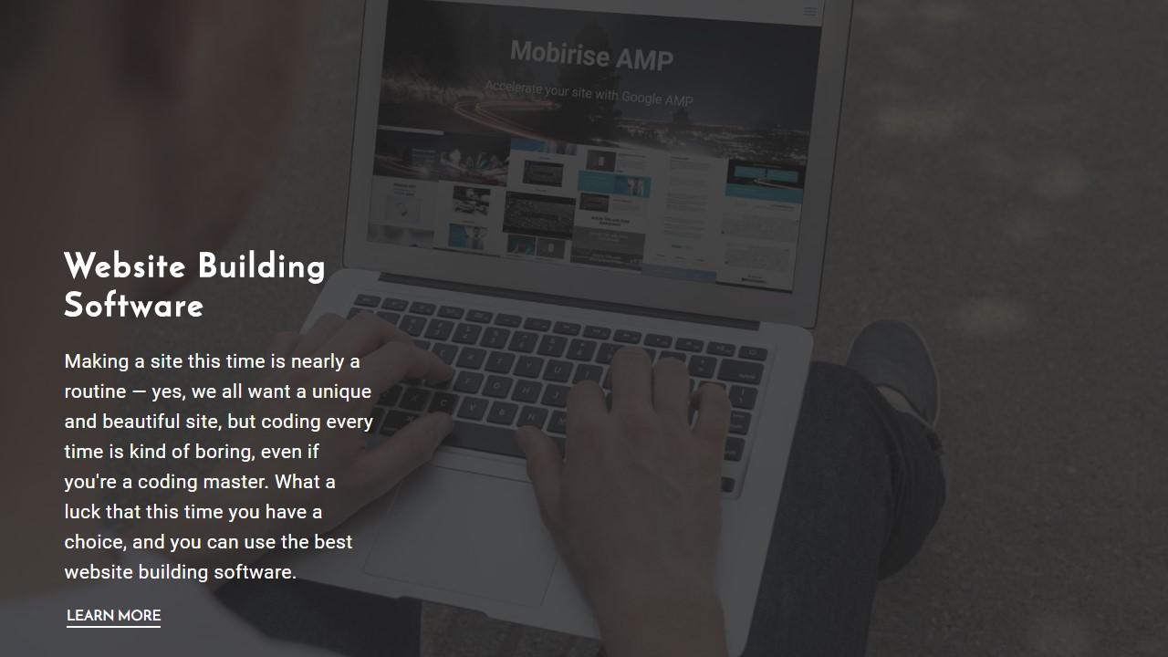 Website Building Software Template