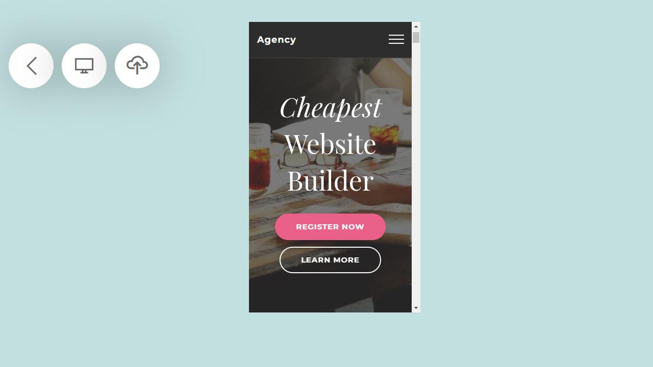 mobile website generator